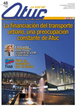 La financiación del transporte urbano, una preocupación constante de Atuc