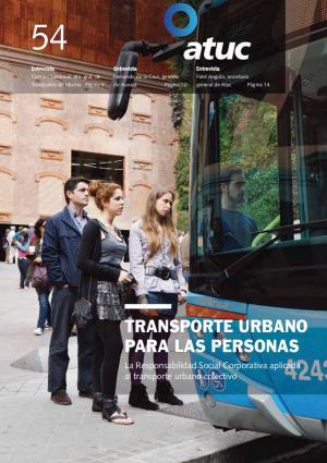 Transporte urbano para las personas