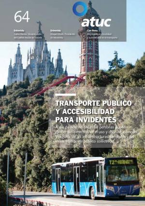 Transporte público y accesibilidad para invidentes
