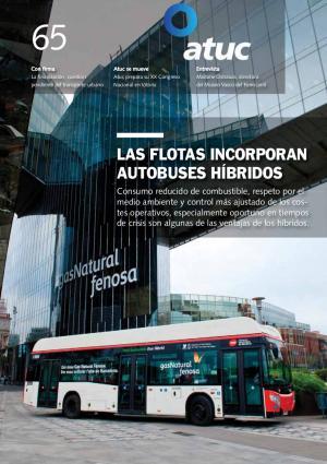 Las flotas incorporan autobuses híbridos