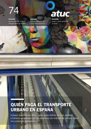 Quién paga el transporte urbano en España