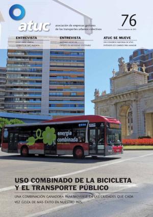 Uso combinado de la bicicleta y el transporte público