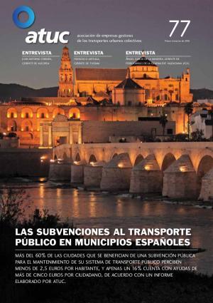 Las subvenciones al transporte público en municipios españoles