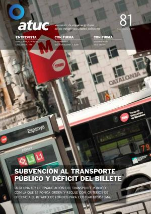 Subvención al transporte público y déficit del billete