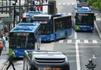 El 99% del aire de los autobuses de San Sebastián procede del exterior