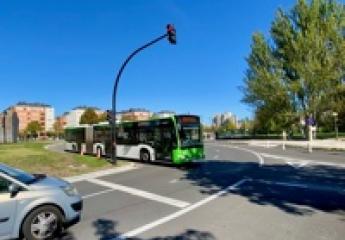 Autobuses de Tuvisa en Vitoria-Gasteiz ya circulan con prioridad semafórica