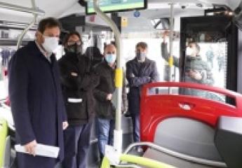 Auvasa incorpora cuatro nuevos buses GNC al transporte urbano de Valladolid