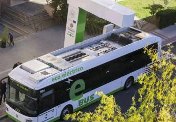 La línea 7 de Auvasa, la primera electrificada de autobús en España