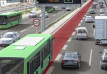 Así será el carril Bus-VAO de la A-2 en Madrid