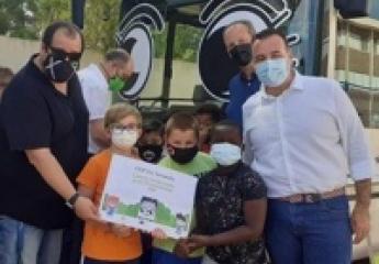 EMT Palma estrena un proyecto educativo para acercar a los niños a la movilidad sostenible