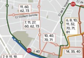 La EMT de València rediseña su red en el centro de la ciudad