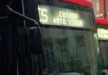 Los nuevos buses de Emtusa exhiben orgullo de Xixón