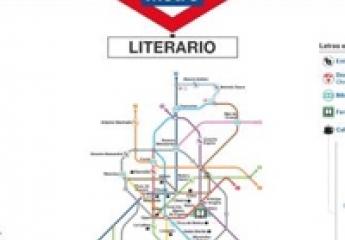 Metro lanza un plano temático para recorrer el Madrid más literario