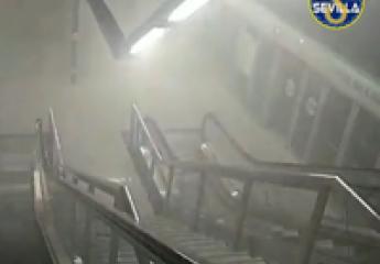 Metro de Sevilla realiza un simulacro de extinción de humos