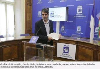 El Consistorio de San Sebastián trabajará en 2018 para que todos los buses de la línea 28 sean eléctricos