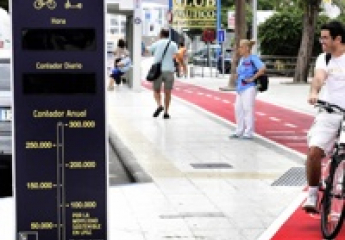 Un tótem digital contabilizará el paso de bicis y patinetas en Las Palmas de Gran Canaria