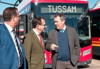 Tussam eleva a 24 su flota de buses de gas natural en Sevilla