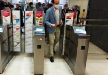 Los usuarios del metro de Palma podrán pagar con tarjeta bancaria en el mismo torno