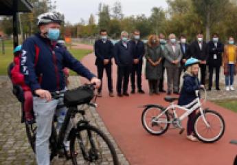 Los vecinos de la «raia» del Miño podrán compartir bicicletas públicas transfronterizas desde primavera