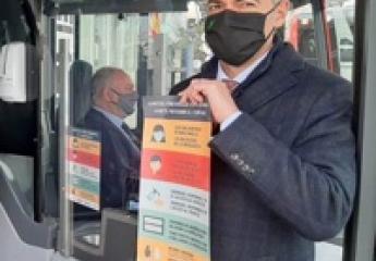 Vectalia refuerza la prevención contra la covid-19 en el transporte público de Alicante