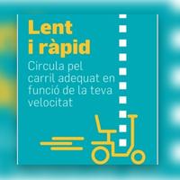 El Àrea Metropolitana de Barcelona difunde buenas prácticas en el uso de bici y patinete para asegurar la convivencia