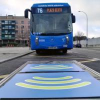 EMT Madrid estrena su primera línea 100% eléctrica con carga por inducción