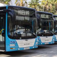 EMTUSA Huelva presenta sus diez nuevos autobuses ecológicos
