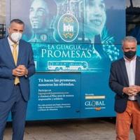 """Global pone en marcha """"La Guagua de las Promesas"""" en Gran Canaria"""