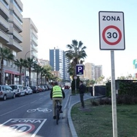 Málaga promueve la circulación de las bicicletas por las zonas 30